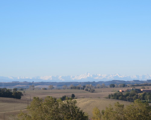 Pyrenees view from rooms Plein Sud and Sud Ouest