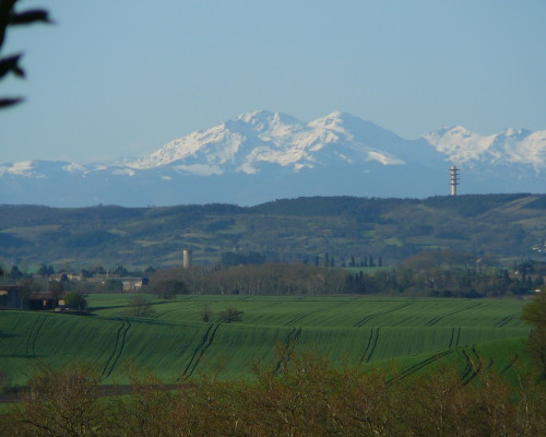The Pyrenees mountains in early spring